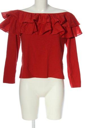 H&M Top épaules dénudées rouge style décontracté