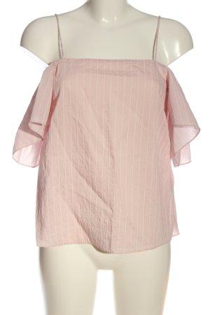H&M Camisa tipo Carmen rosa-blanco estampado repetido sobre toda la superficie