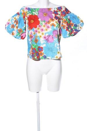 H&M Camisa tipo Carmen estampado repetido sobre toda la superficie elegante