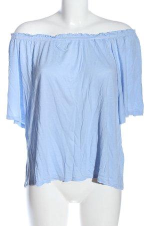 H&M Carmen Shirt blue flecked casual look
