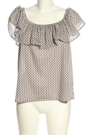 H&M Carmenshirt Allover-Druck Casual-Look