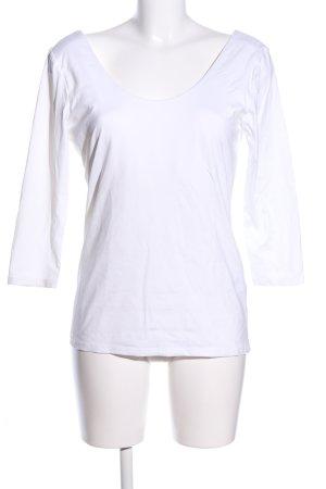 H&M Camisa tipo Carmen blanco look casual