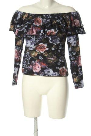 H&M Carmenshirt Blumenmuster Casual-Look