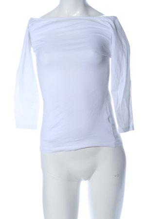 H&M Camisa tipo Carmen azul look casual