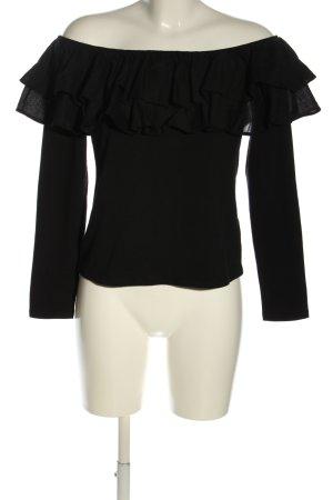 H&M Carmenshirt schwarz Casual-Look