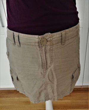 H&M Falda estilo cargo marrón claro-beige