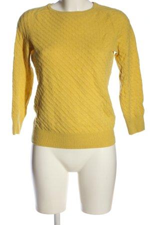 H&M Pullover in cashmere giallo pallido stile casual