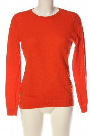 H&M Sudadera de cachemir naranja claro look casual
