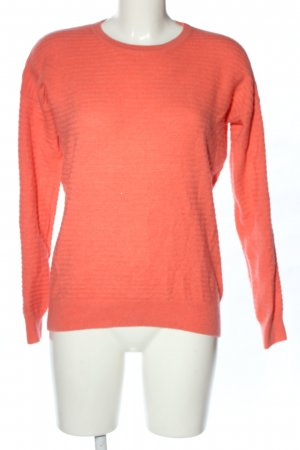 H&M Cashmere Jumper red striped pattern casual look