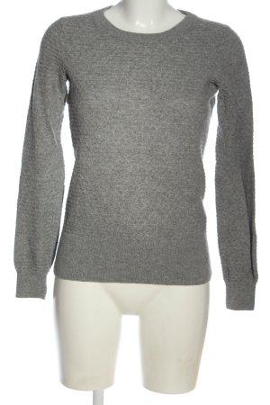 H&M Pullover in cashmere grigio chiaro puntinato stile casual