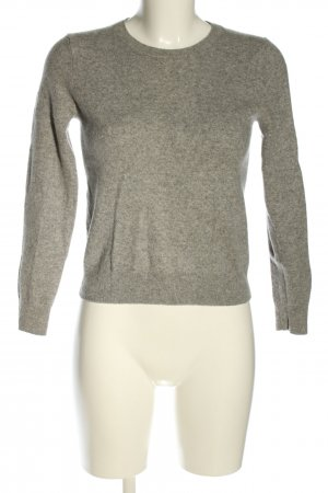 H&M Cashmere Jumper light grey flecked casual look