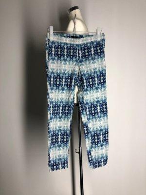 H&M casual 7/8-Hose, blau gemustert