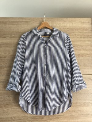 H&M casual Bluse, weiß / blau gestreift