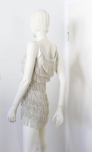 H&M Vestido con flecos beige claro Poliéster
