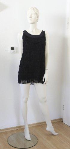 H&M Robe à franges noir polyester