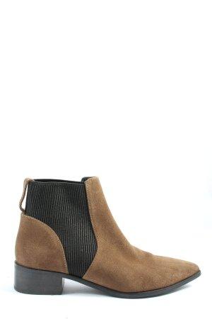 H&M Chelsea Boots braun-schwarz Casual-Look