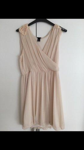 H&M vestido de globo nude
