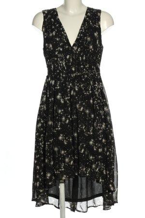H&M Chiffon Dress black-natural white allover print elegant