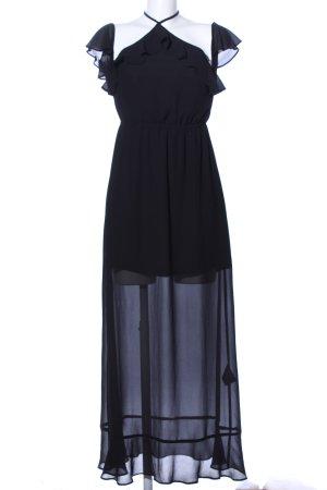 H&M Chiffon jurk zwart elegant