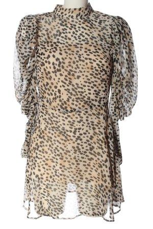 H&M Szyfonowa sukienka Abstrakcyjny wzór Ekstrawagancki styl