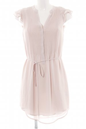 H&M Chiffonkleid creme Casual-Look