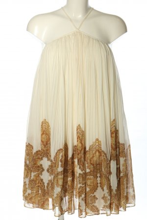 H&M Chiffonkleid creme-braun Mustermix Party-Look