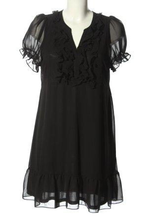 H&M Chiffonkleid schwarz Casual-Look