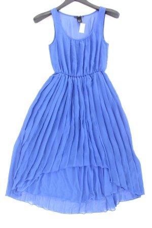 H&M Chiffon Dress blue-neon blue-dark blue-azure polyester