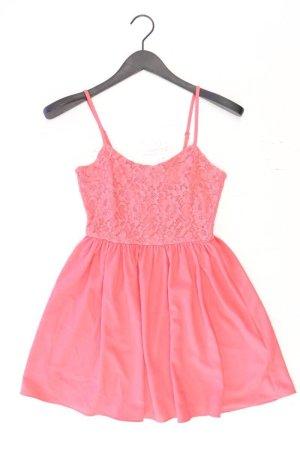 H&M Chiffonkleid Größe 34 Träger pink aus Polyester