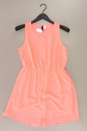 H&M Chiffonkleid Größe 38 Ärmellos orange aus Polyester
