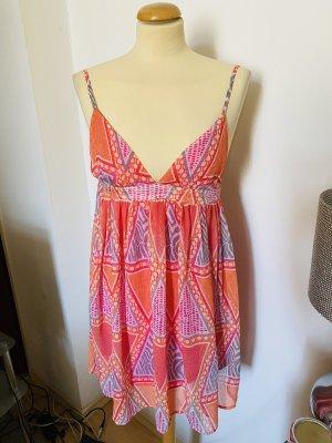 H&M Szyfonowa sukienka pomarańczowy-łosowiowy