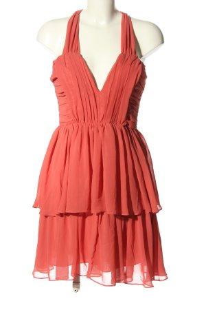 H&M Szyfonowa sukienka czerwony Elegancki