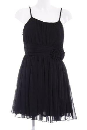 H&M Chiffonkleid schwarz Elegant