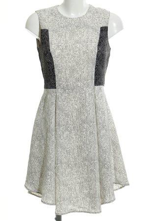 H&M Chiffonkleid weiß-schwarz Punktemuster Elegant