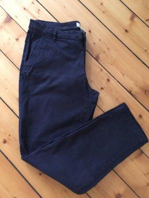 H&M Pantalon chinos bleu foncé coton