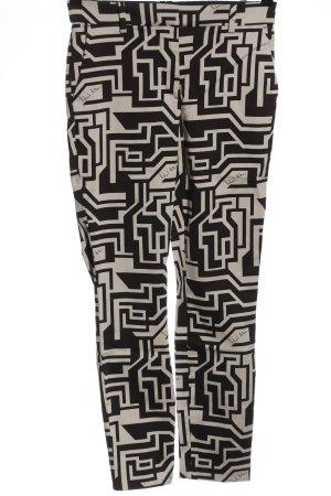 H&M Chinohose schwarz-wollweiß Allover-Druck Elegant