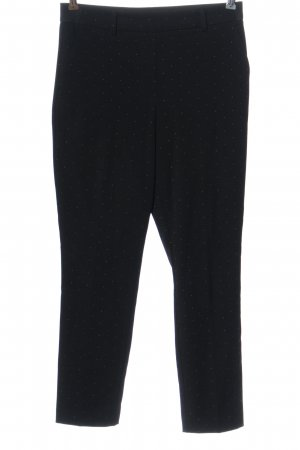 H&M Chinohose schwarz Punktemuster Business-Look
