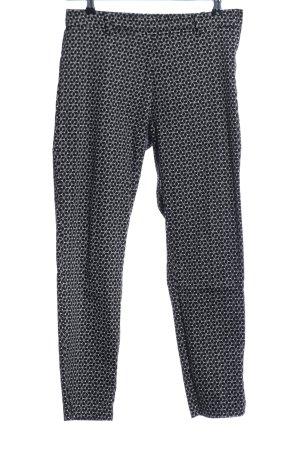 H&M Chinohose schwarz-weiß grafisches Muster Casual-Look