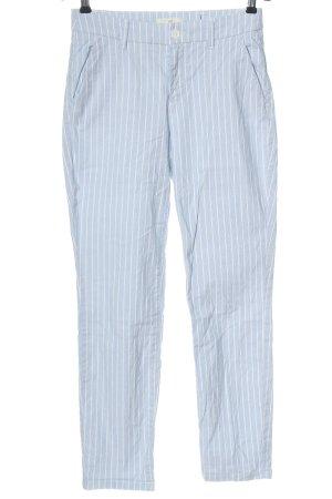 H&M Chinohose blau-weiß Streifenmuster Elegant