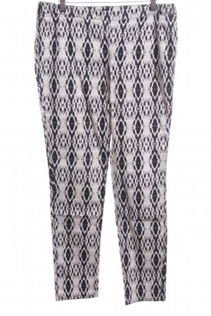 H&M Chinohose abstraktes Muster Casual-Look