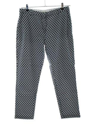 H&M Chinohose schwarz-weiß Allover-Druck Business-Look