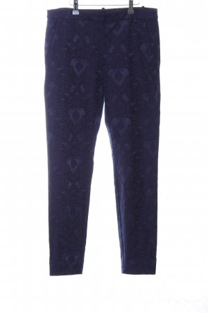 H&M Chinohose blau Allover-Druck Casual-Look