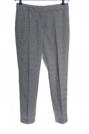 H&M Pantalon chinos noir-blanc imprimé allover style d'affaires