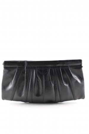 H&M Clutch schwarz Animalmuster Elegant