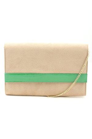 H&M Clutch wollweiß-grün Casual-Look