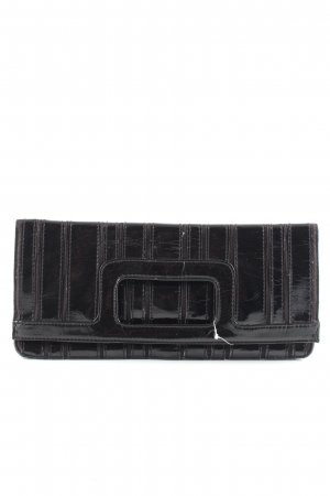 H&M Clutch schwarz Streifenmuster Casual-Look