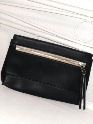 H&M Clutch schwarz