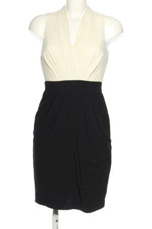 H&M Cocktailkleid weiß-schwarz Casual-Look