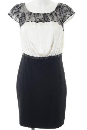 H&M Cocktailkleid weiß-schwarz Business-Look