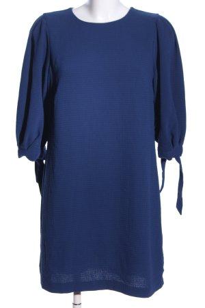 H&M Cocktailkleid blau Punktemuster Elegant